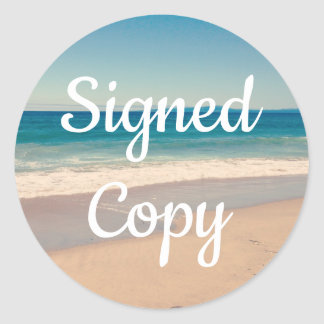 Seaside Photo Signed Copy Classic Round Sticker