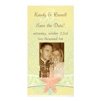 Seaside Save the Date Photocard Picture Card