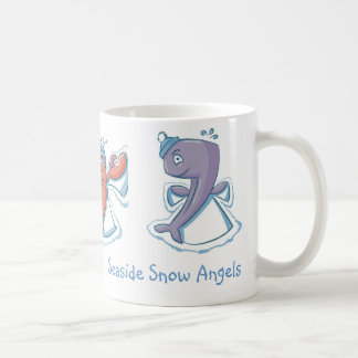 Seaside Snow Angels Turtle Lobster Whale Coffee Mug