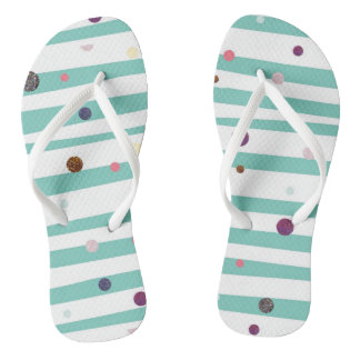 Seaside stripes flip flops