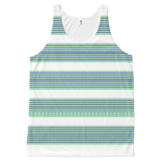 Seaside-Stripe's-Nautical-White(c)-Tank-Top All-Over-Print Tank Top