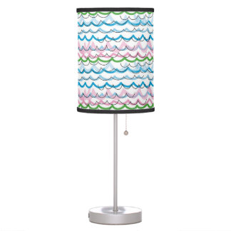 Seaside summer pattern lampshade and stand table lamp