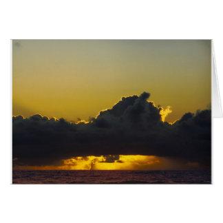 Seaside Sunset Card