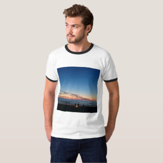 Seaside sunset. Night fishing tee shirt.