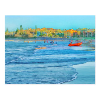 Seaside view greeting card