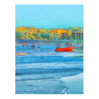 Seaside view greeting card postcard