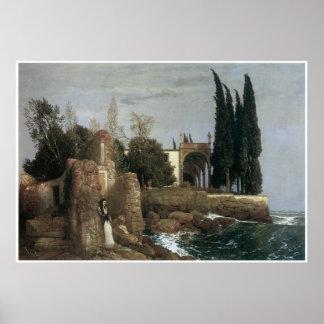 Seaside Villa, Arnold Bocklin 1878 Poster