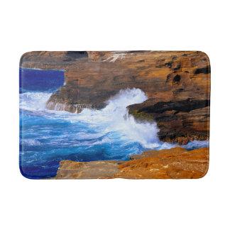 Seaside Wave Crash Bath Mat