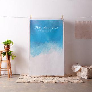 Seaside Wedding Photo Backdrop Blue Watercolor