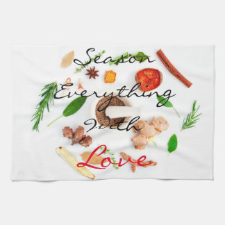 Season everything with love   Spices Hand Towel