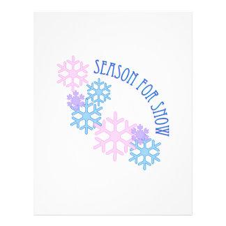 Season For Snow Letterhead Design