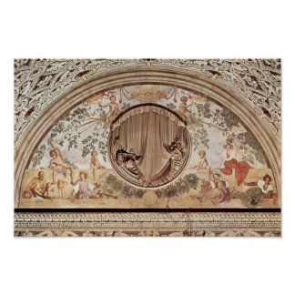 Season Frescoes In The Medici Villa At Poggio A Ca Poster