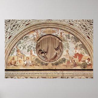 Season Frescoes In The Medici Villa At Poggio A Ca Poster