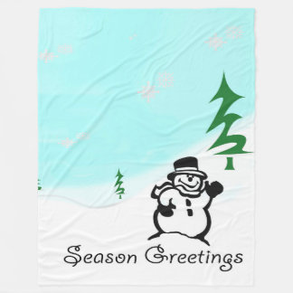 Season Greetings Fleece Blanket