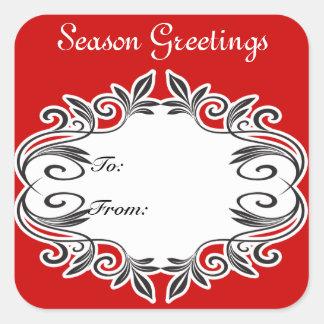 Season Greetings Gift Tag