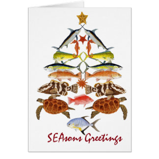 Season Greetings- Ocean fish Christmas Card