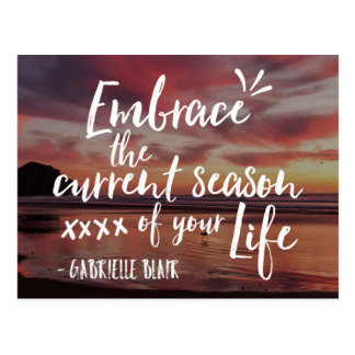 Season Of Your Life Quote Postcard