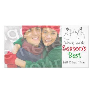 Season s Best Customizable Photo Card