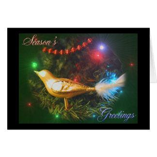 Season s Greetings bird card