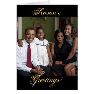 Season s Greetings Obama Family Christmas Cards