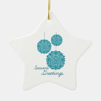 Season s Greetings Ornaments