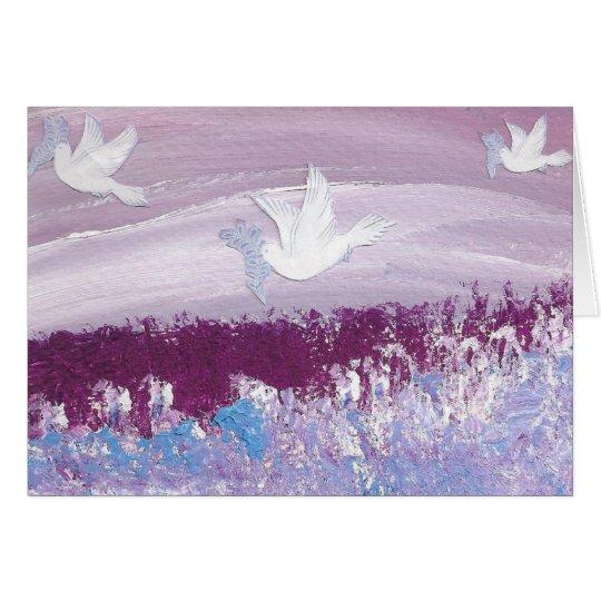 Seasonal Card Doves D39