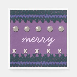 Seasonal Christmas Knitted Decor with Custom Text Napkin