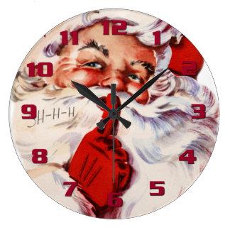 Seasonal Decor Fun and Whimsical Santa Claus Large Clock