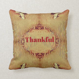 Seasonal Fall 'Thankful' Design Throw Pillow