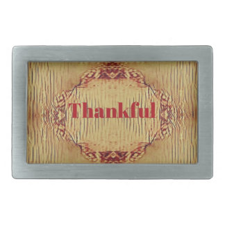 Seasonal Fall 'Thankful' Design Tote Belt Buckle