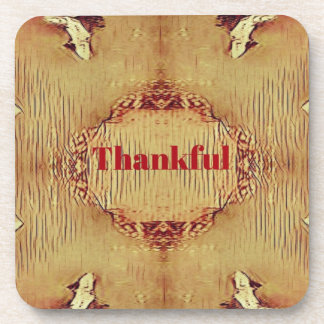 Seasonal Fall 'Thankful' Design Tote Coaster