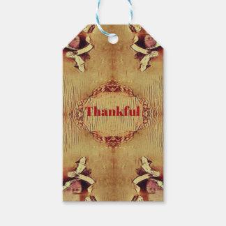 Seasonal Fall 'Thankful' Design Tote Gift Tags