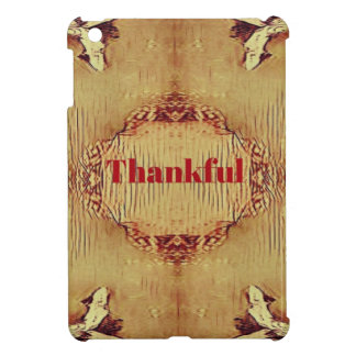 Seasonal Fall 'Thankful' Design Tote iPad Mini Covers
