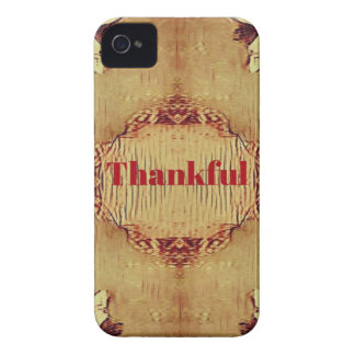 Seasonal Fall 'Thankful' Design Tote iPhone 4 Case-Mate Case