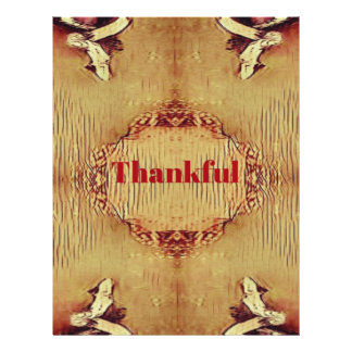 Seasonal Fall 'Thankful' Design Tote Letterhead