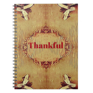 Seasonal Fall 'Thankful' Design Tote Notebook