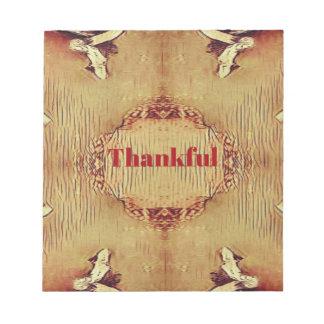 Seasonal Fall 'Thankful' Design Tote Notepad