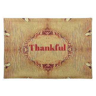 Seasonal Fall 'Thankful' Design Tote Placemat