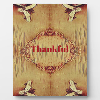 Seasonal Fall 'Thankful' Design Tote Plaque