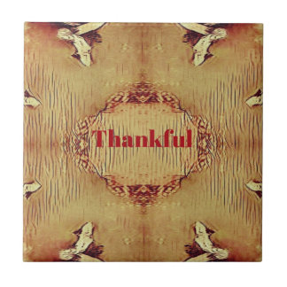 Seasonal Fall 'Thankful' Design Tote Tile