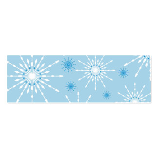 SEASONAL GIFT TAG :: patterned snowflake L5 Mini Business Card