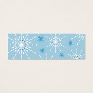 SEASONAL GIFT TAG :: patterned snowflake L5 Mini Business Card