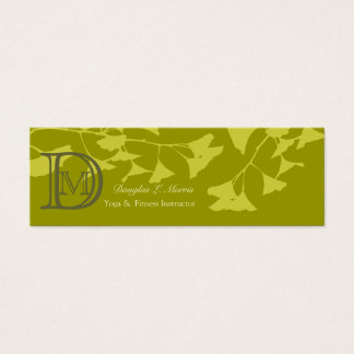 Seasonal  Ginkgo Tree  Branch Pattern Mini Business Card