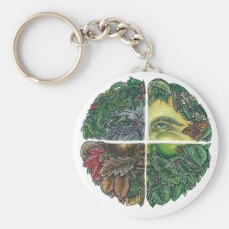 Seasonal Green Man Keychain
