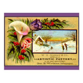Seasonal reminiscence: ice skating postcard