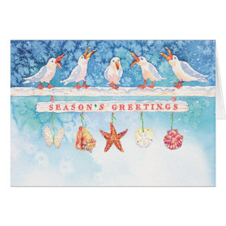 Seasonal Seagulls Card