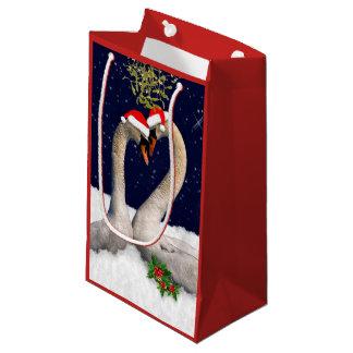 Seasonal Swans Christmas Gift Bag
