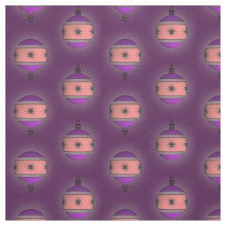 Seasonal Tree Globes Christmas Decor on Purple Fabric