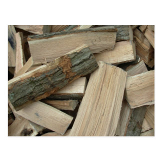Seasoned Firewood Postcard