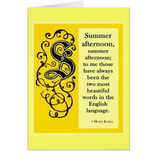 Seasoned Initials Summer Card